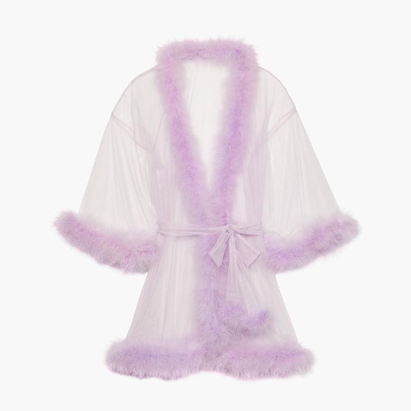 Sheer Marabou Short Robe EUR 77,60