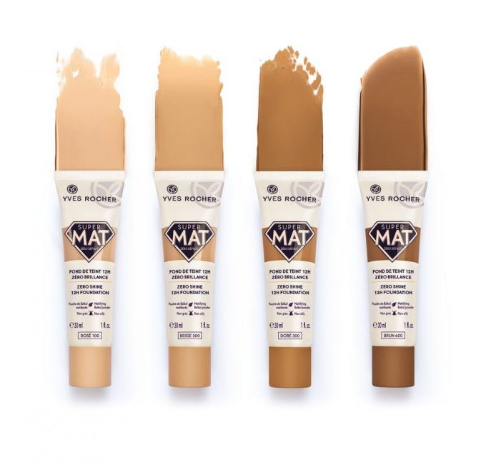 Super Mat Yves Rocher: le tonalità